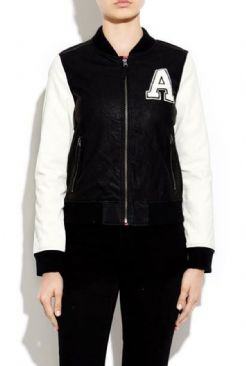 Washed PU Varsity Jacket